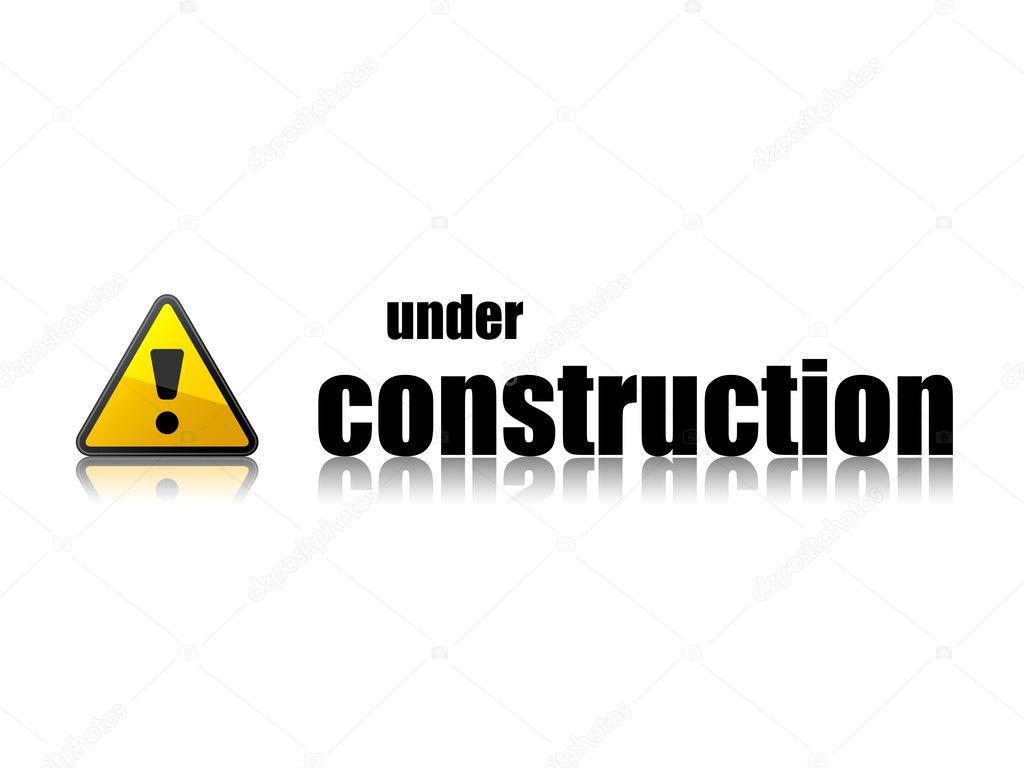 Under Construction Template Stock Vector Happyroman 11496111