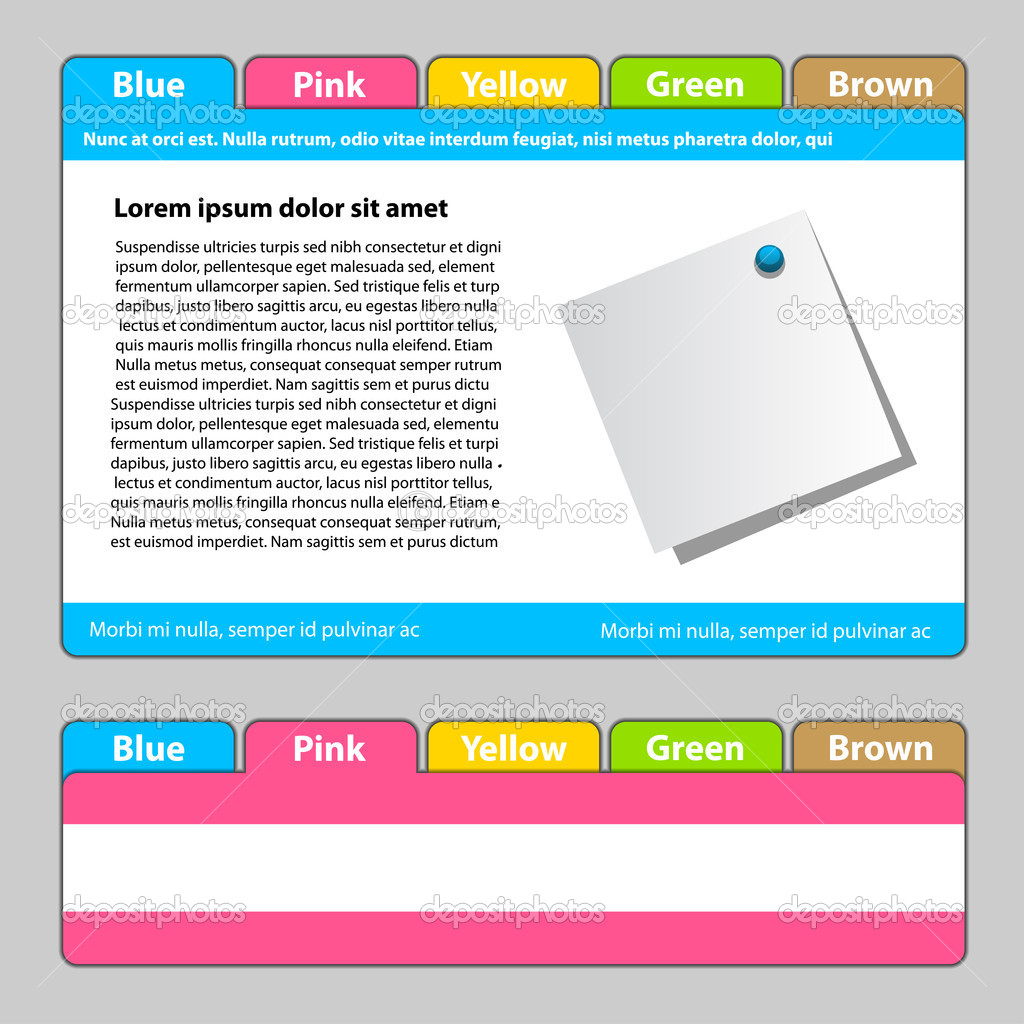 Web Template Easy Change Focus On Any Tab Stock Vector