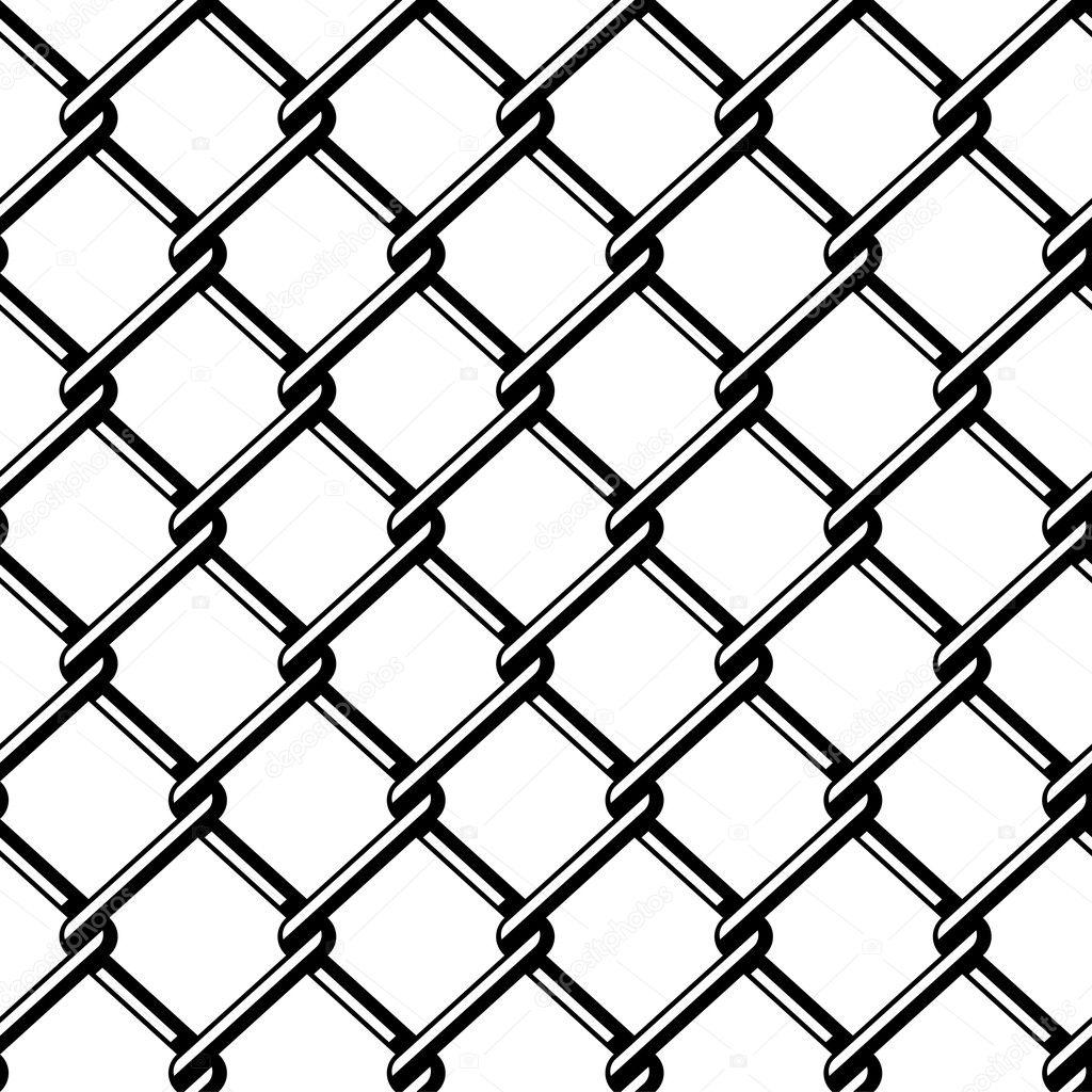 wire fence seamless black silhouette — Stock Vector © happyroman ...