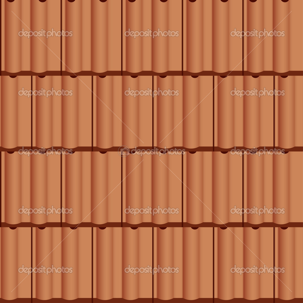 Roof Tile Seamless Background Stock Vector 169 Happyroman