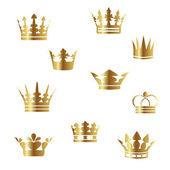 Fotografie Vector gold crowns