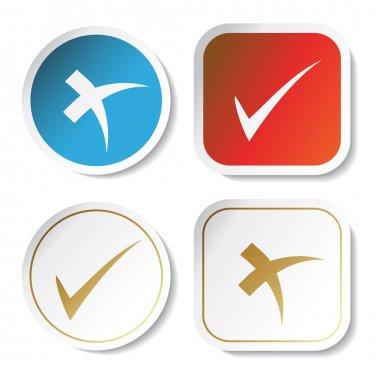 Vector stickers - check mark