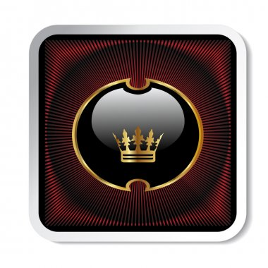 Vector royal label