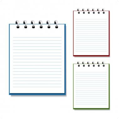 Vector blank open notebook