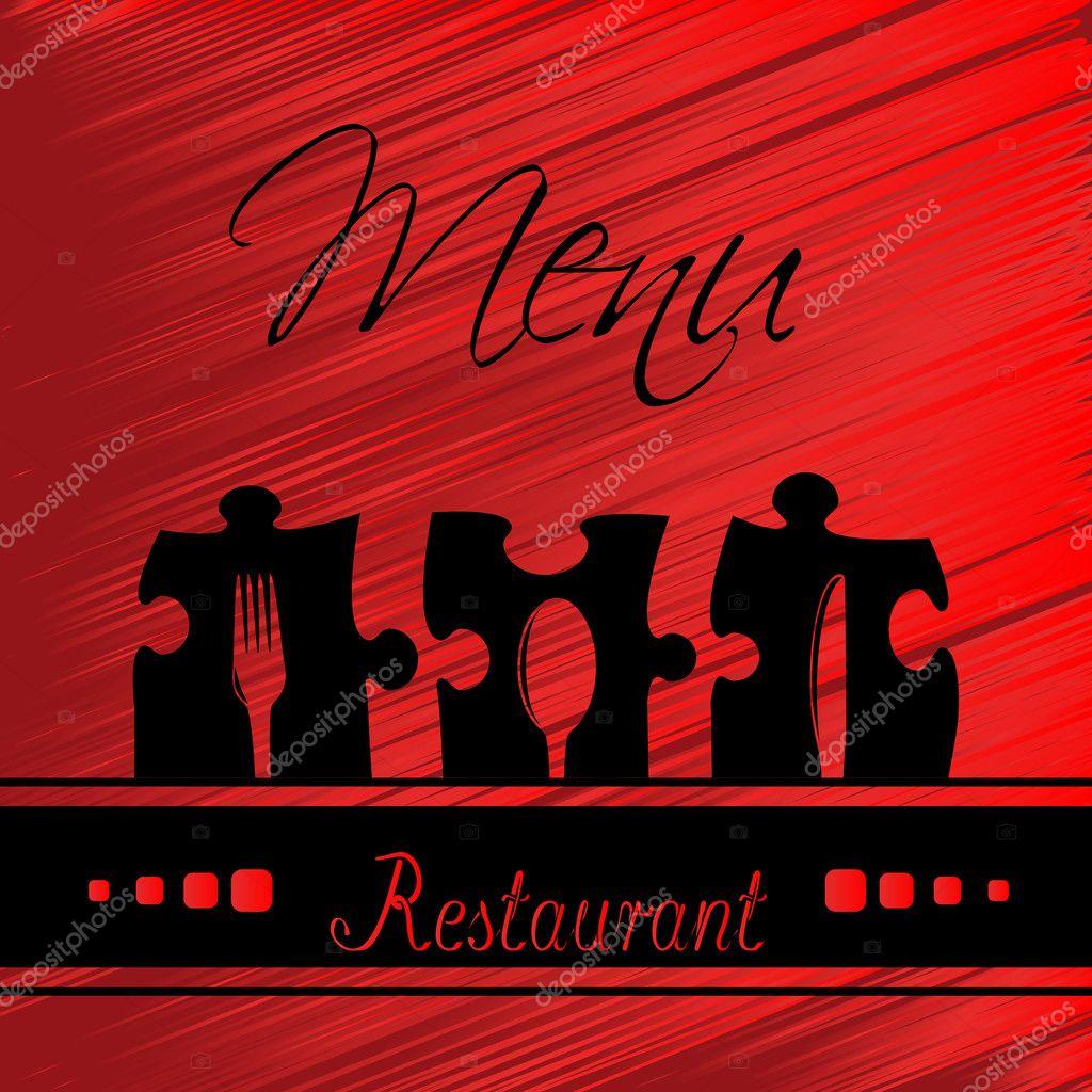 restaurant menu design - template brochure — stock vector #11627116