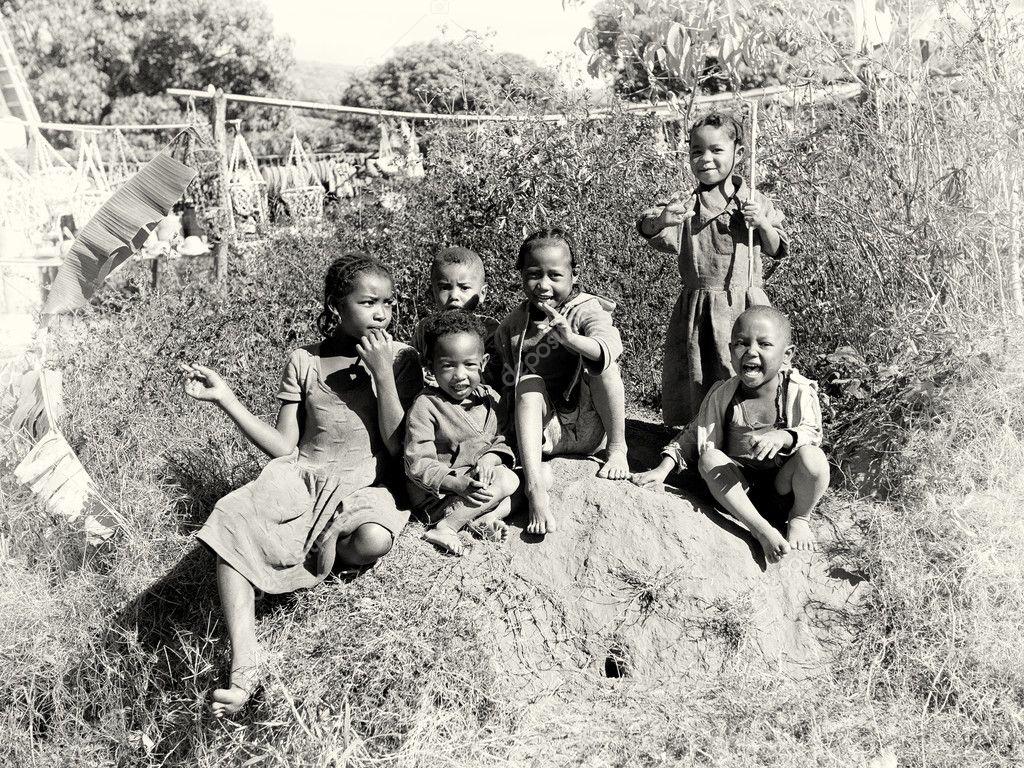 Group of Madagascar children