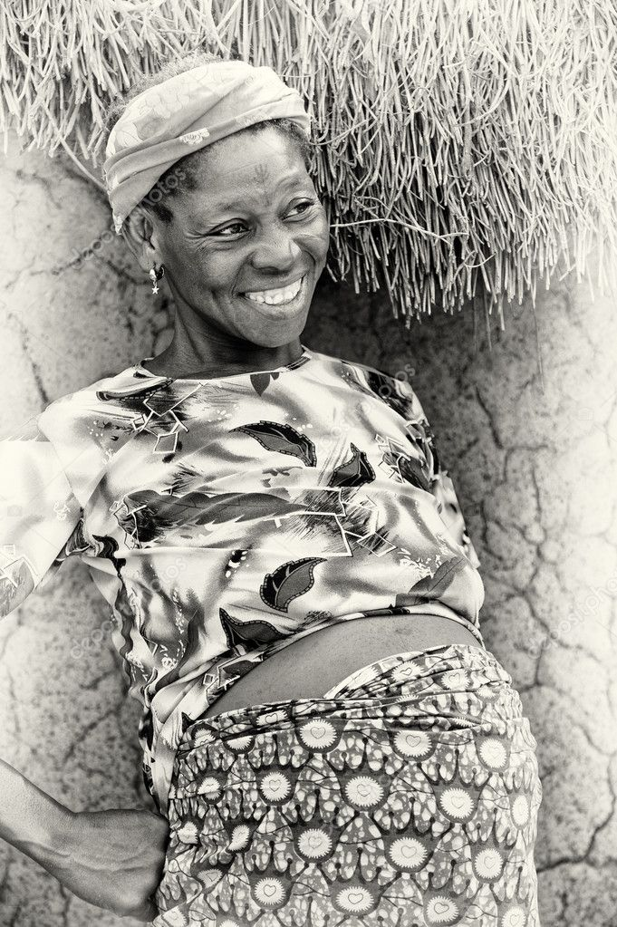Happy pregnant woman from Ghana