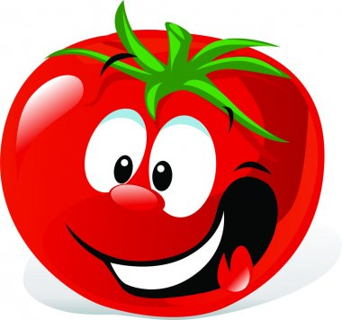 Funny cartoon cute tomato