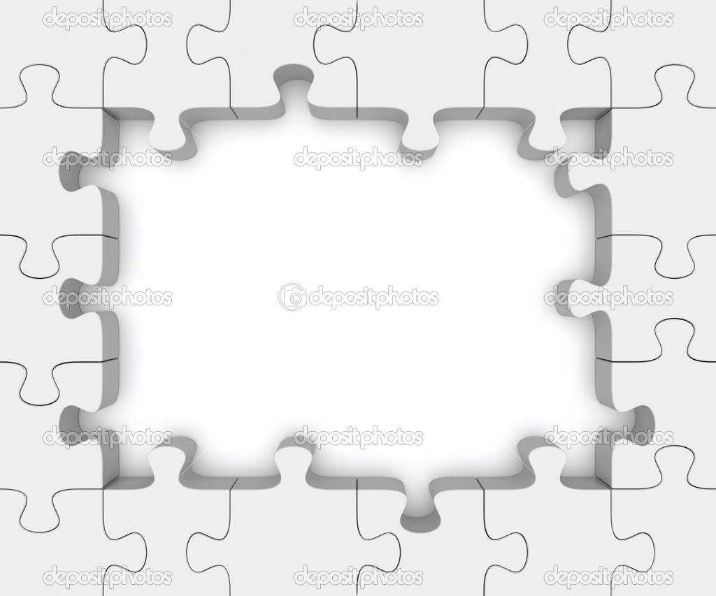 Puzzle frame. — Stock Photo © Shtanzman #11559183