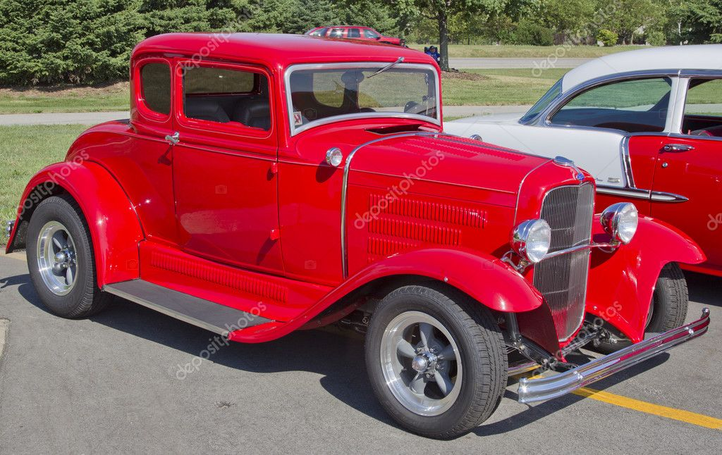 Old Red Ford Hot Rod – Stock Editorial Photo © mybaitshop #11789388