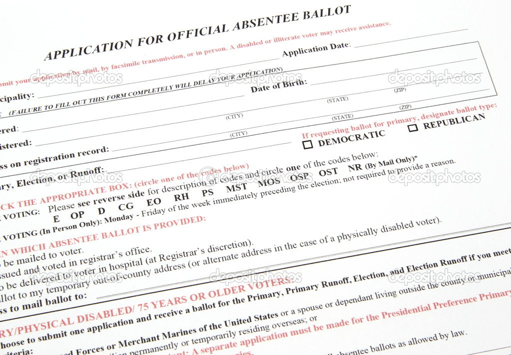 Application for Absentee Voting Ballot