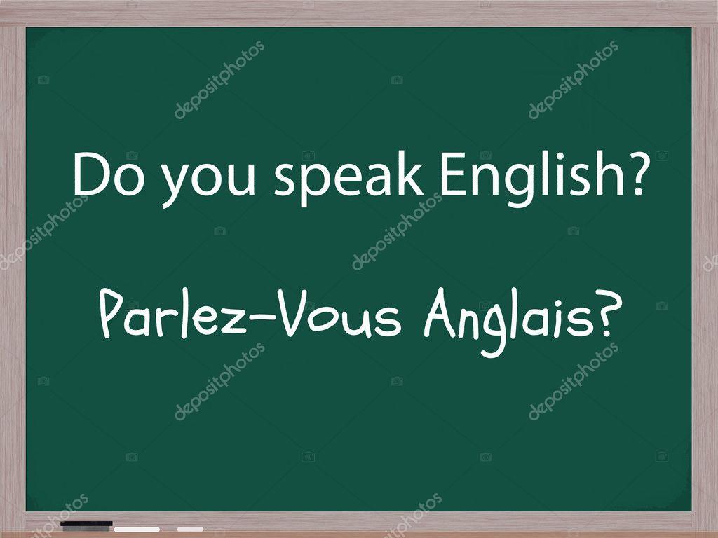 Spreekt U Engels In Het Frans Stockfoto Mybaitshop 11929675