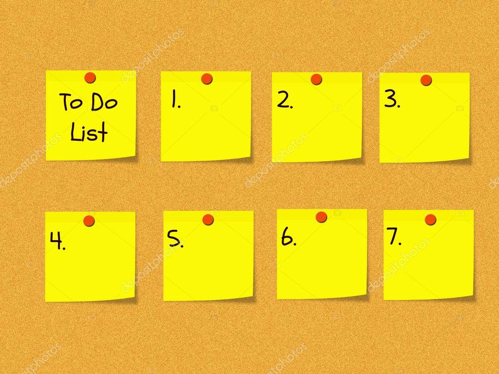 To Do List on Bulletin Board