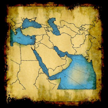 Middle East old map