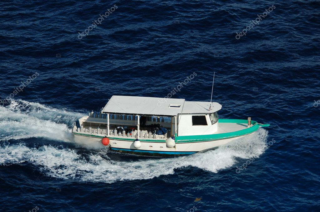 Charter boat taking a journey to a tropical getaway