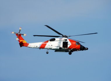 Us Coast Guard Helicopter Departs On Patrol