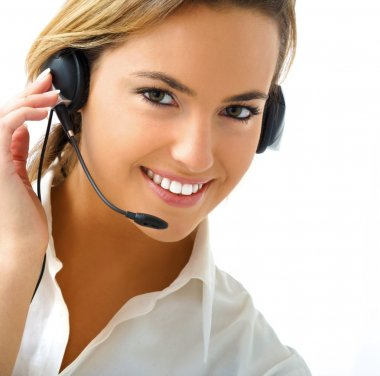 Young woman in customer service