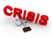 podnikatel rozdrcený slovo krize