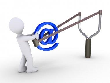 Sending e-mail using slingshot