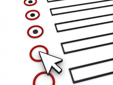 Completing form using mouse pointer