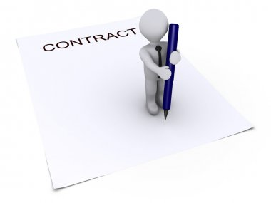Person with pen about to sign contract