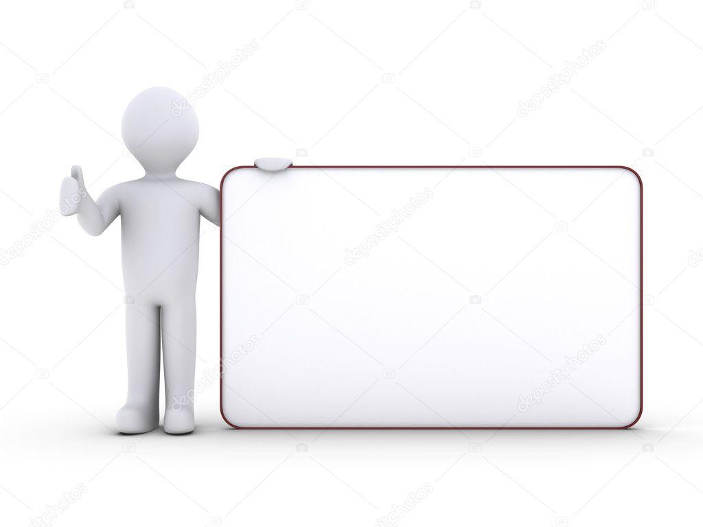 Persona con tablero en blanco foto de stock 6kor3dos 11825814 - Tablero blanco ...