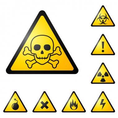 Vector warning signs stock vector