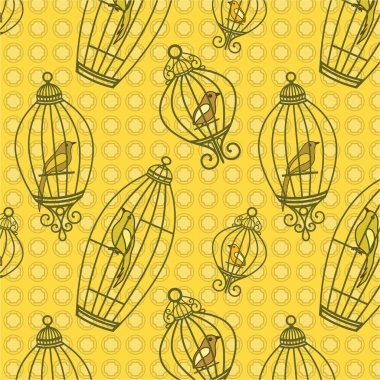 Bird in Birdcages pattern
