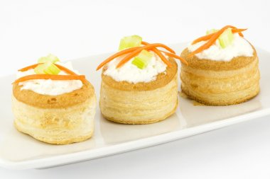 Vol au vents with cream cheese