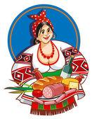 Ukrán etnikai nő