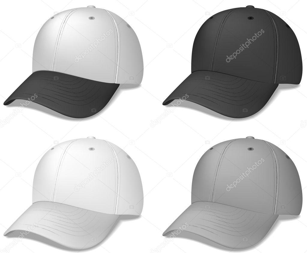 gorras de béisbol realista — Archivo Imágenes Vectoriales ... 2b7ba2d2786