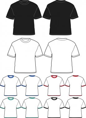 Set of T-shirts - vector illustration set