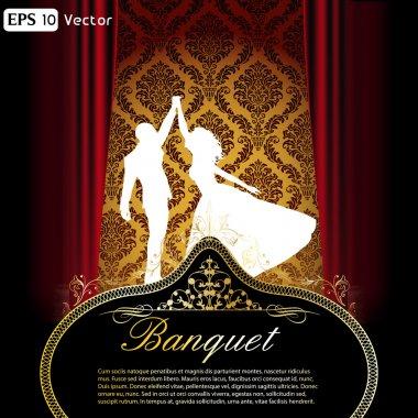 Elegant dance and ball flyer