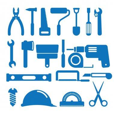 Vector illustration of the building instrument clip art vector