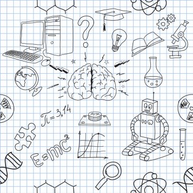 Seamless icons of science