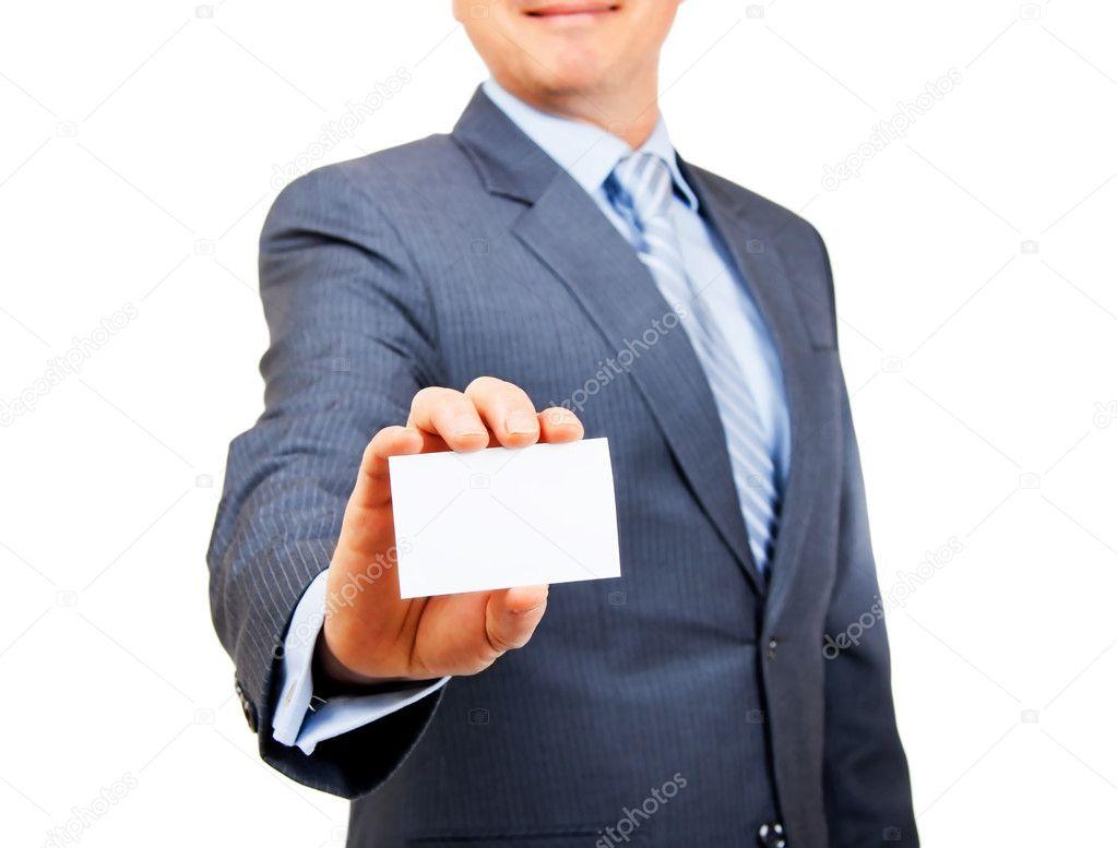 Homme Daffaires En Costume Tenant Carte Espace Exemplaire Est Blanc Sur Fond Isol Mettre Laccent La Image De Urbancowboy