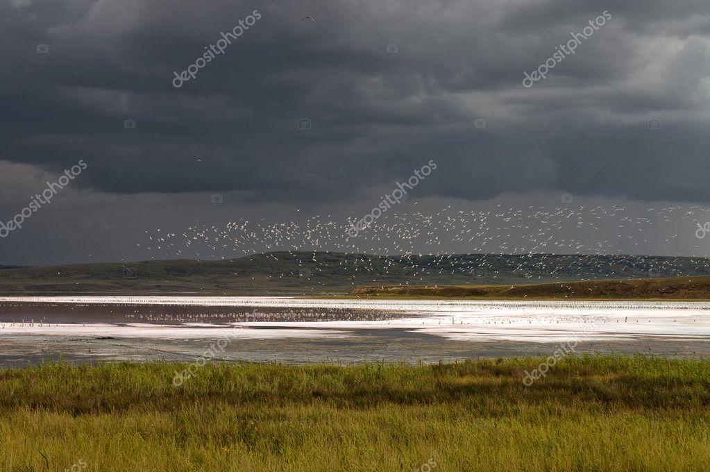 Chokrakskoe lake before the Storm.. Chokrak.
