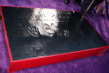 Michael Jackson Hand and Footprints, and his children's handprints