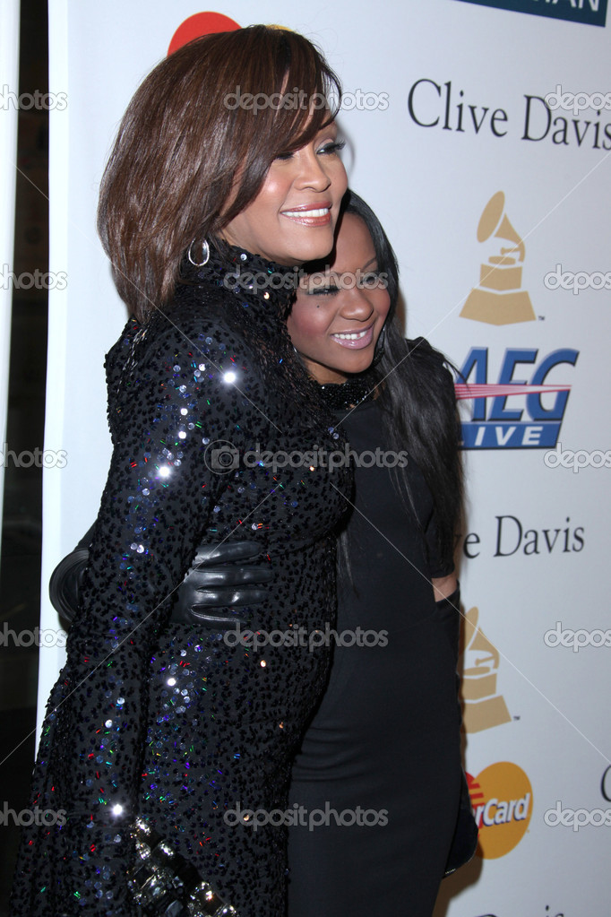 Whitney Houston Und Bobbi Kristina Brown Redaktionelles Stockfoto