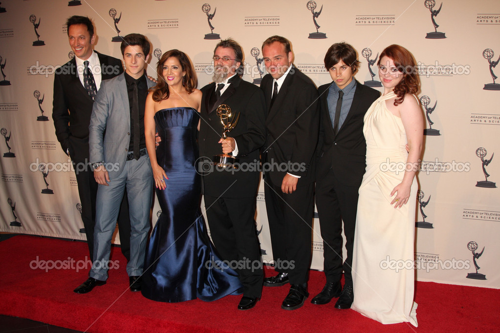 wizards of waverly place cast with exec producer peter