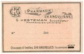 Fotografie A vintage Belgian medical pharmacy label