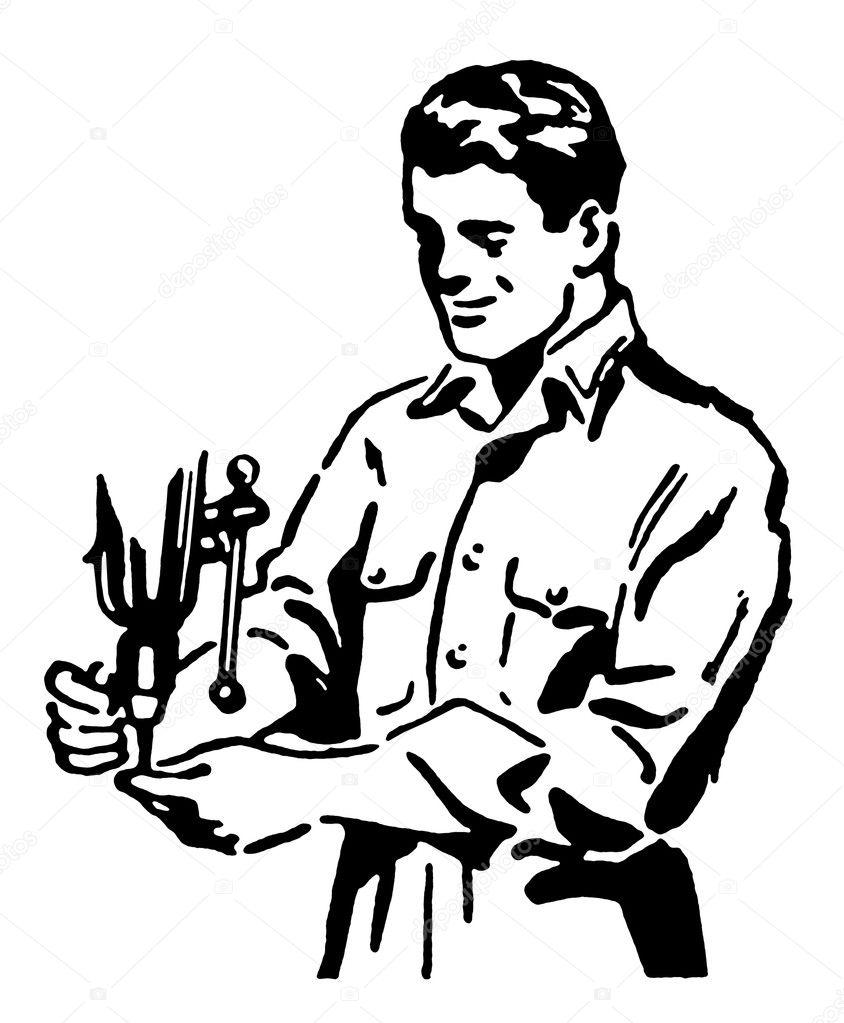 Bauarbeiter schwarz weiß  Eine schwarz-weiß-Version von altem Zeichnung der Bauarbeiter ...