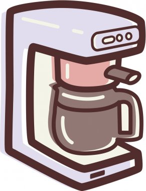 Illustration of a coffee maker