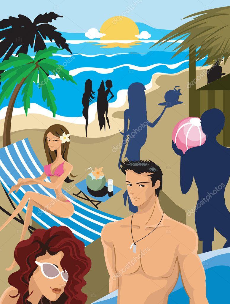 A beach party