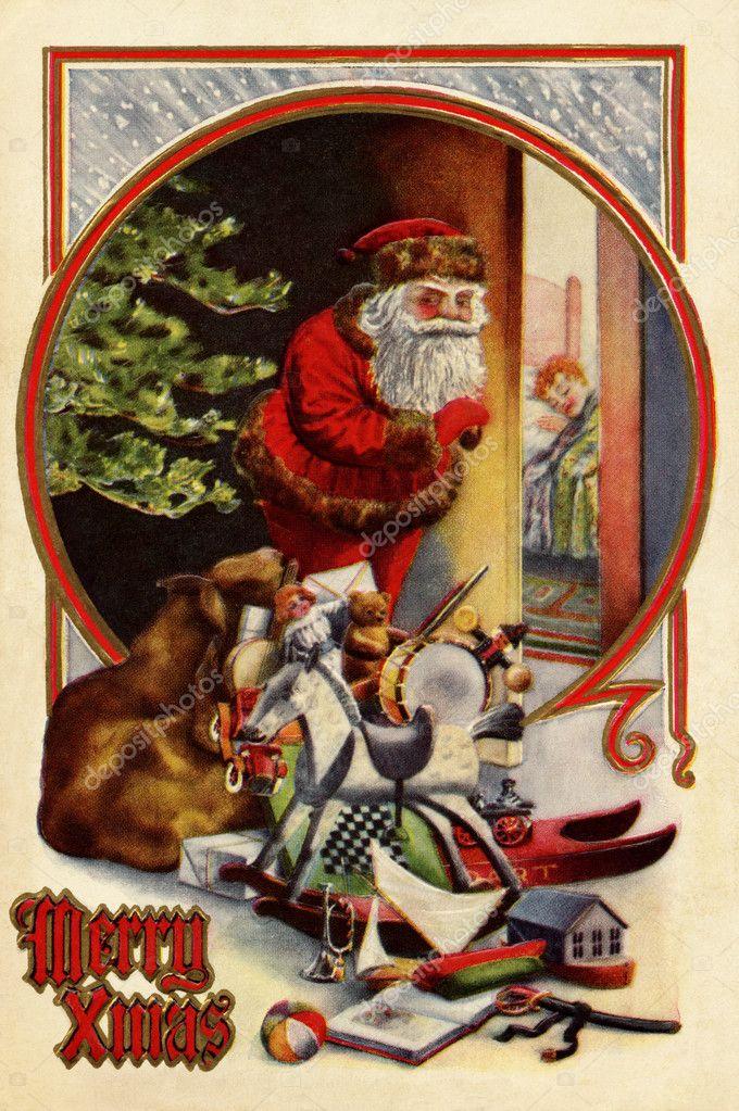 Immagini Di Natale Vintage.Disegni Natale Vintage Cartolina Di Natale Vintage Di Babbo