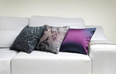 Photo of beautiful colorful pillows