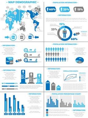 INFOGRAPHIC DEMOGRAPHICS POPULATION 3 BLUE