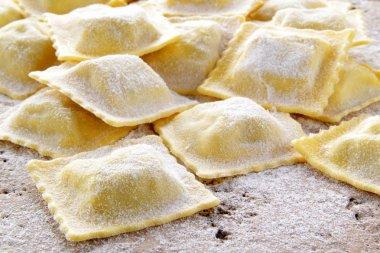 Fresh ravioli handmade