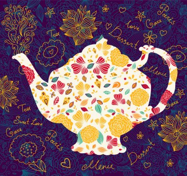 Template with teapot