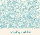 esküvői meghívó, virágok